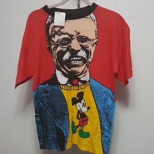 Vintage Disney Theodore Roosevelt Tee Shirt Sz M